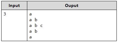 Print Character Triangle Java 2
