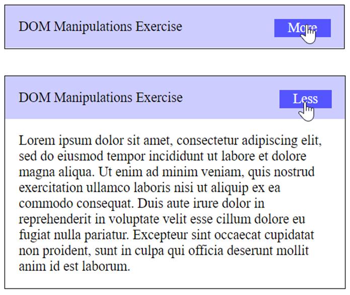 accordion javascript task