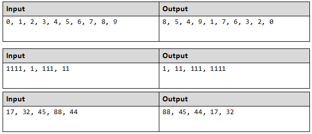 arrange integers in java example
