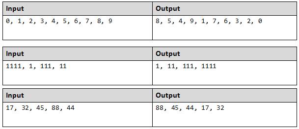 arrange integers in java example