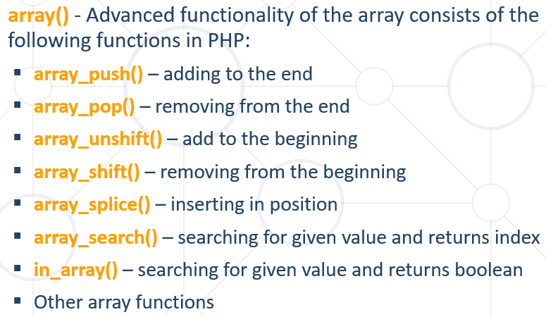 array functions php