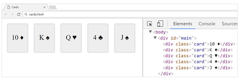 cards task js 1