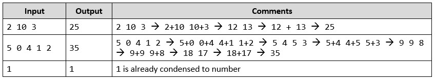 condense array to number php task