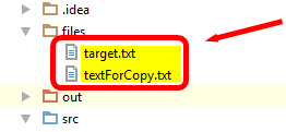 copying text files in java