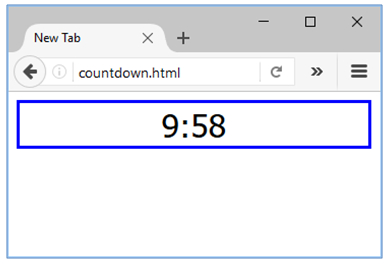 countdown with javascript