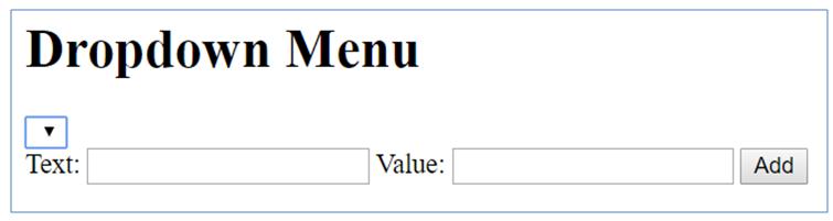 dropdown menu javascript