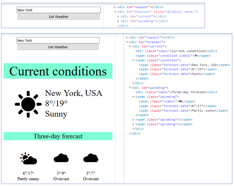 forecast javascript app with firebase
