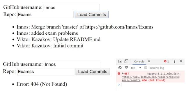Github Commits (Async Programming Task)