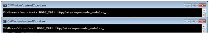 node paths for testing frameworks javascript