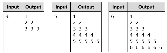 php task triangle of numbers