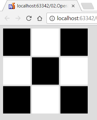 print chessboard by given n number as a javascript function