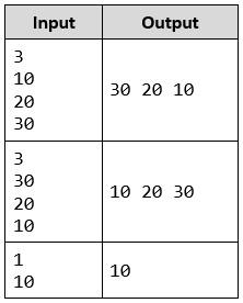 print numbers in reverse order php task