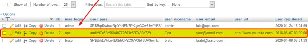 sql query new administrator in wordpress cms
