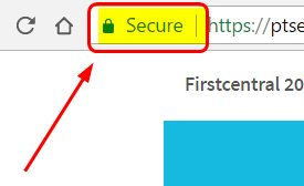 image of ssl certificate in the browser window
