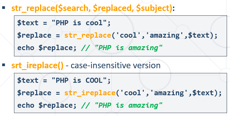 str replace php