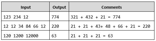 sum reversed numbers php array task